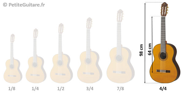 taille guitare 4/4