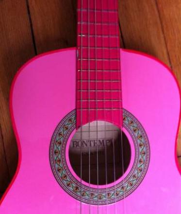 guitare 1/8 rose