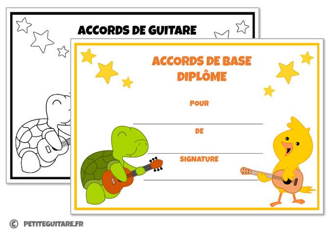diplome guitare debutant
