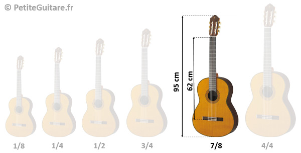 guitare 7/8 taille