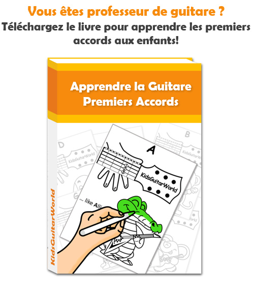 apprendre guitare enfant accords