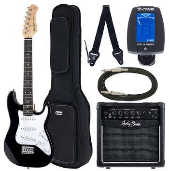 guitare electrique enfant harley benton