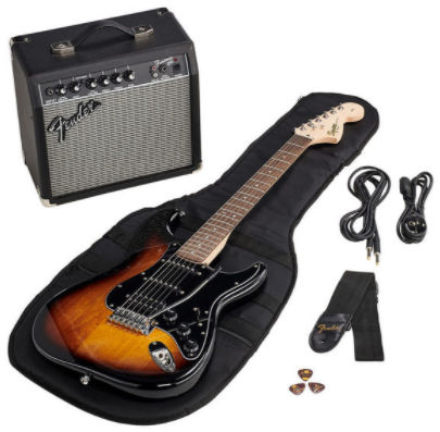 fender sq affi strat guitare electrique